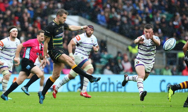 Northampton's Dan Biggar had an afternoon to forget at Twickenham (Mark Kerton/PA).