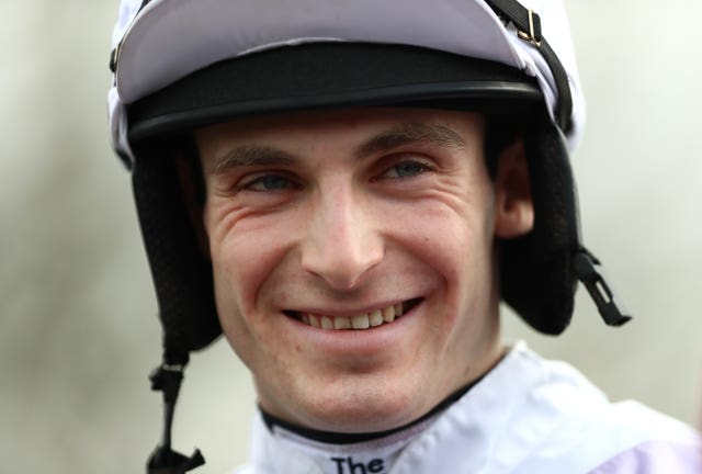 Harry Bannister was all smiles at Taunton on Tuesday after taking the feature race aboard Like The Sound