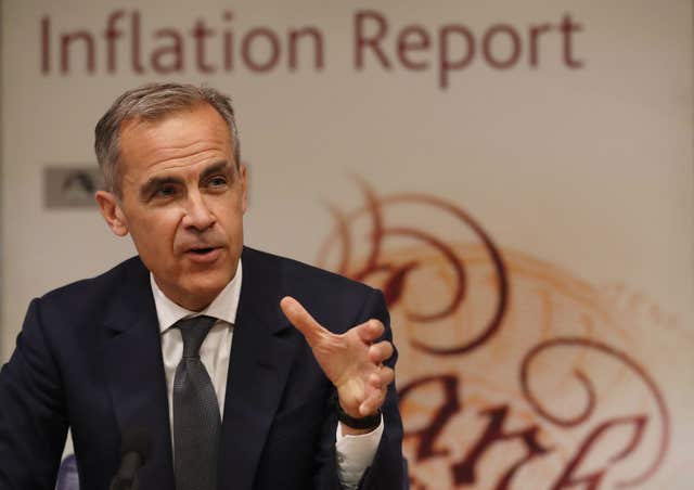 Governor Mark Carney has already signalled that the outlook for interest rates will depend on Brexit negotiations (Frank Augstein/PA)