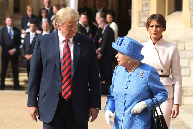 The Queen hosted US President Donald Trump and his wife Melania Trump at Windsor Castle during their 2018 UK visit. Chris Jackson/PA Wire