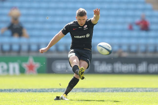 Owen Farrell kicked 22 points in Saracens' victory (