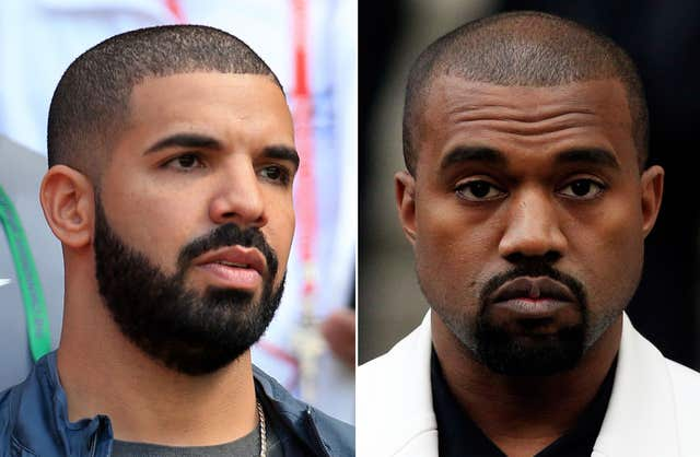 Canadian rapper Drake aimed insults at Kanye West in a new freestyle (PA)
