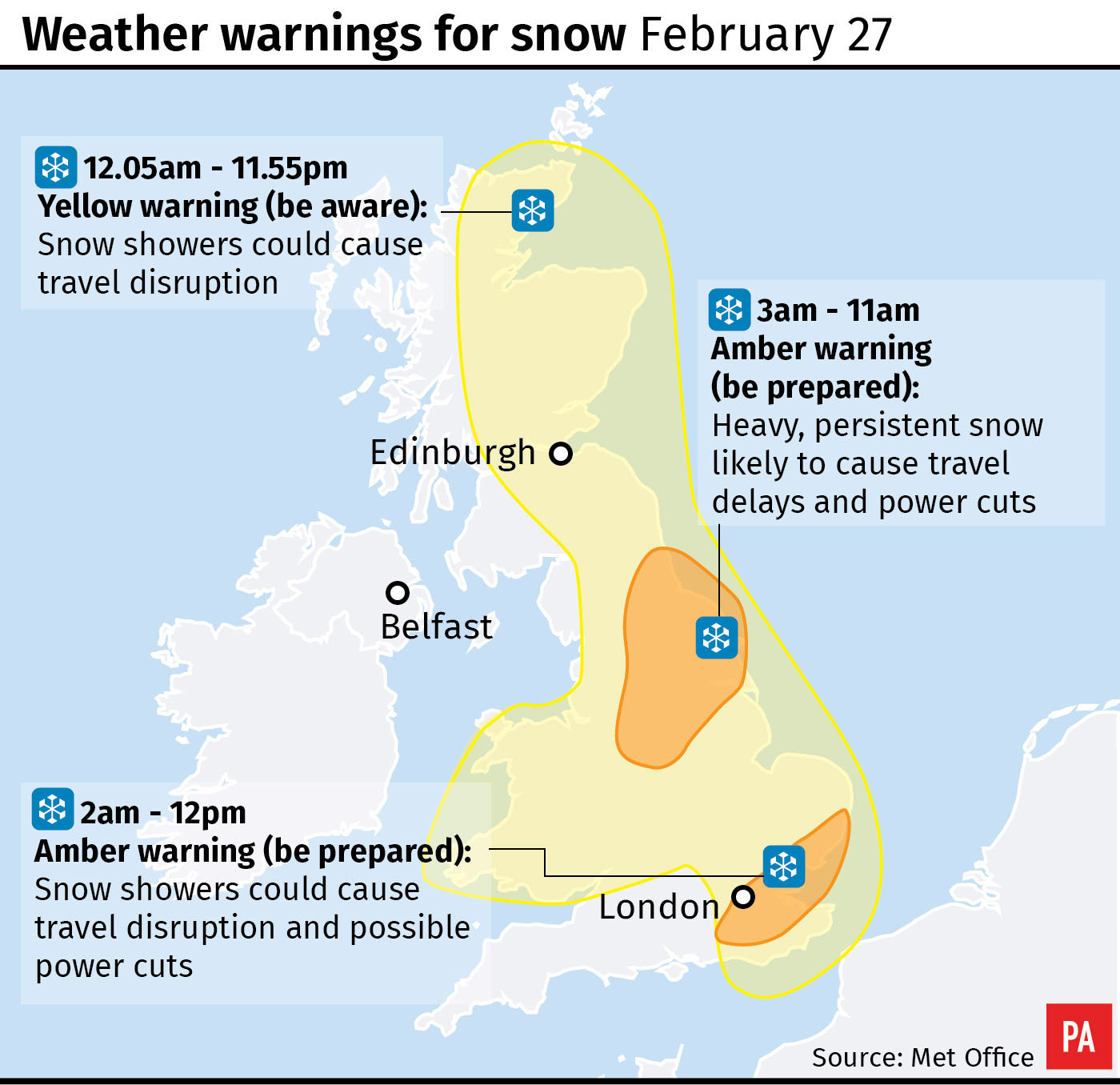 Britain braces for 'Beast from the East'
