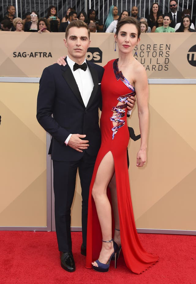 Dave Franco, left, and Alison Brie (Jordan Strauss/Invision/AP)