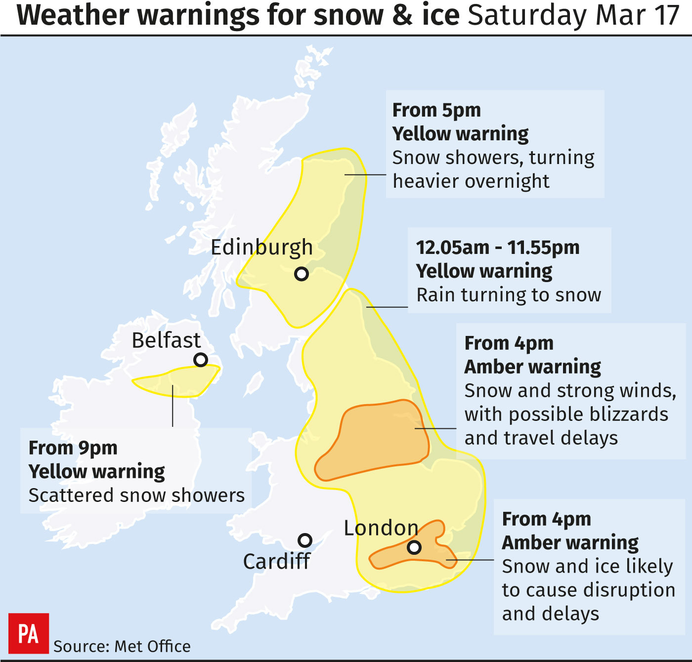 Mini Beast from the East: High pressure to bring respite