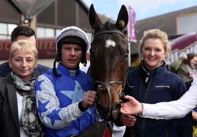 Janet Iveson (left) with Kemboy at Punchestown