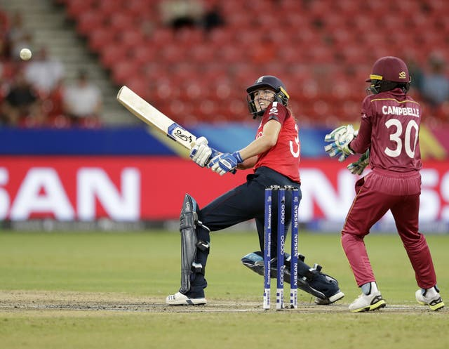 Nat Sciver guided England to a winning position against West Indies
