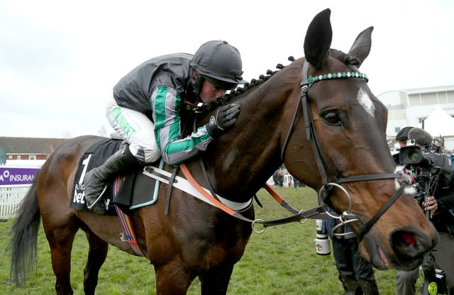 Nico de Boinville and Altior after their Champion Chase success on Wednesday