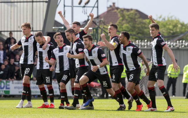 St Mirren players are now on furlough leave