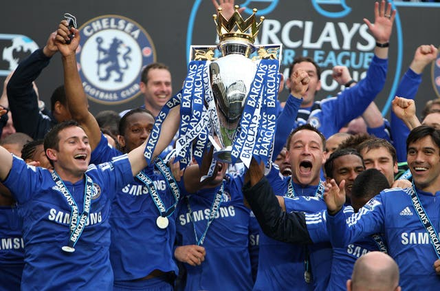 But the smile returned to Lampard's face as he celebrated winning the Premier League in 2010