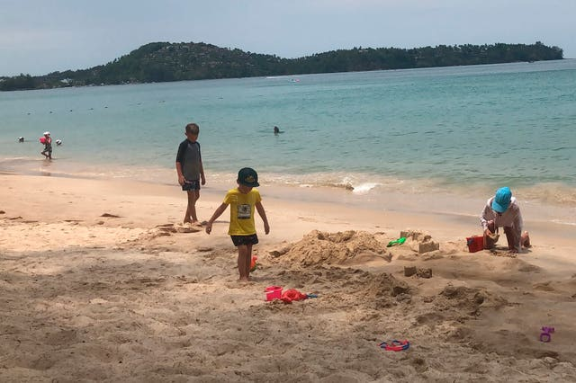 Tourists on a beach in Phuket