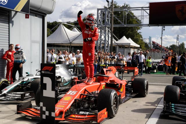 It was Leclerc's second successive win