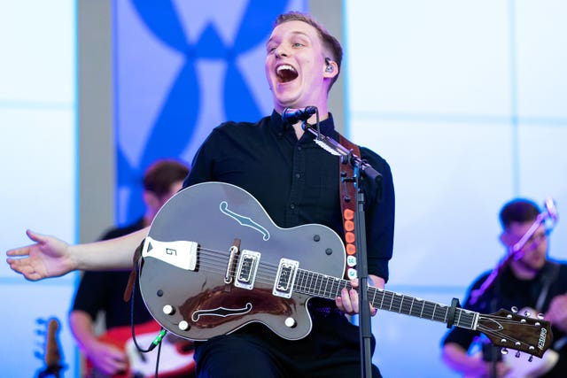 George Ezra performed on the Pyramid Stage on Friday