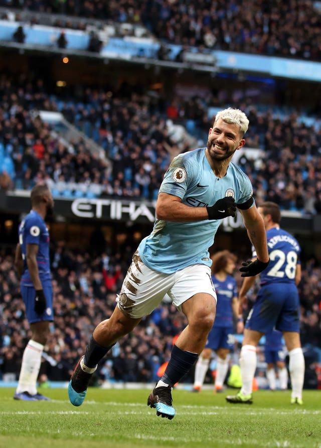 Sergio Aguero of Manchester City terrorized Chelsea