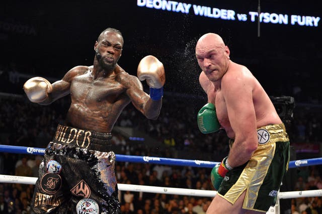 Wilder could only land a couple of early blows
