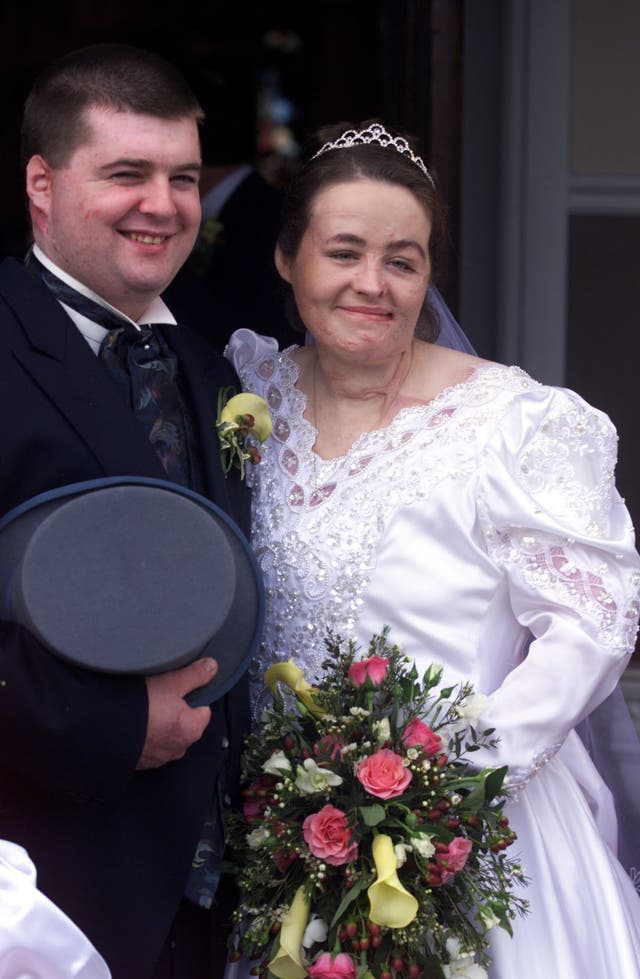 Omagh Wedding/couple smile 2
