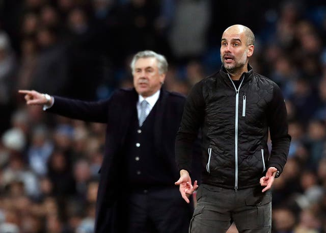 Pep Guardiola and Carlo Ancelotti on the sidelines