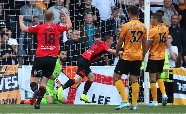 Wolves went behind after 13 minutes