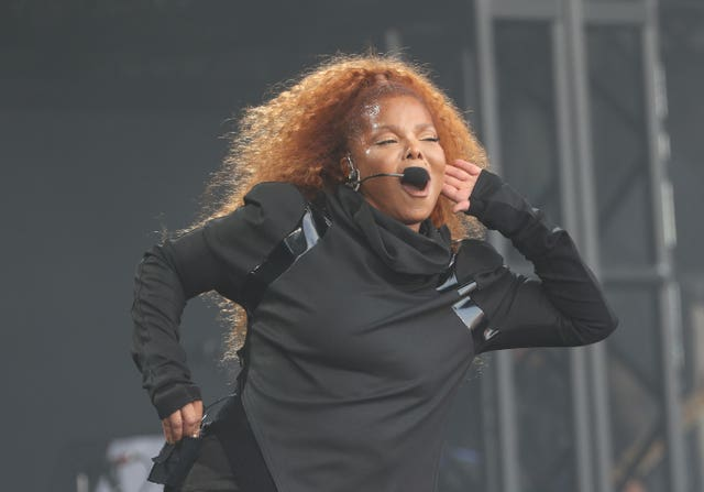 Janet Jackson performs on the Pyramid Stage