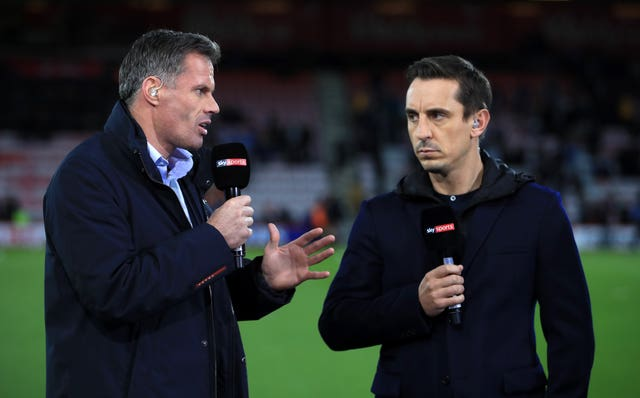 Jamie Carragher has not offered his resignation but admits his future as a broadcaster with Sky is not in his hands.