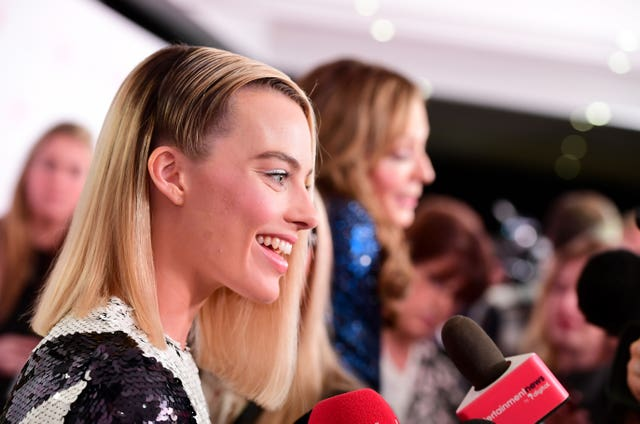 Margot Robbie chats to reporters (Ian West/PA)
