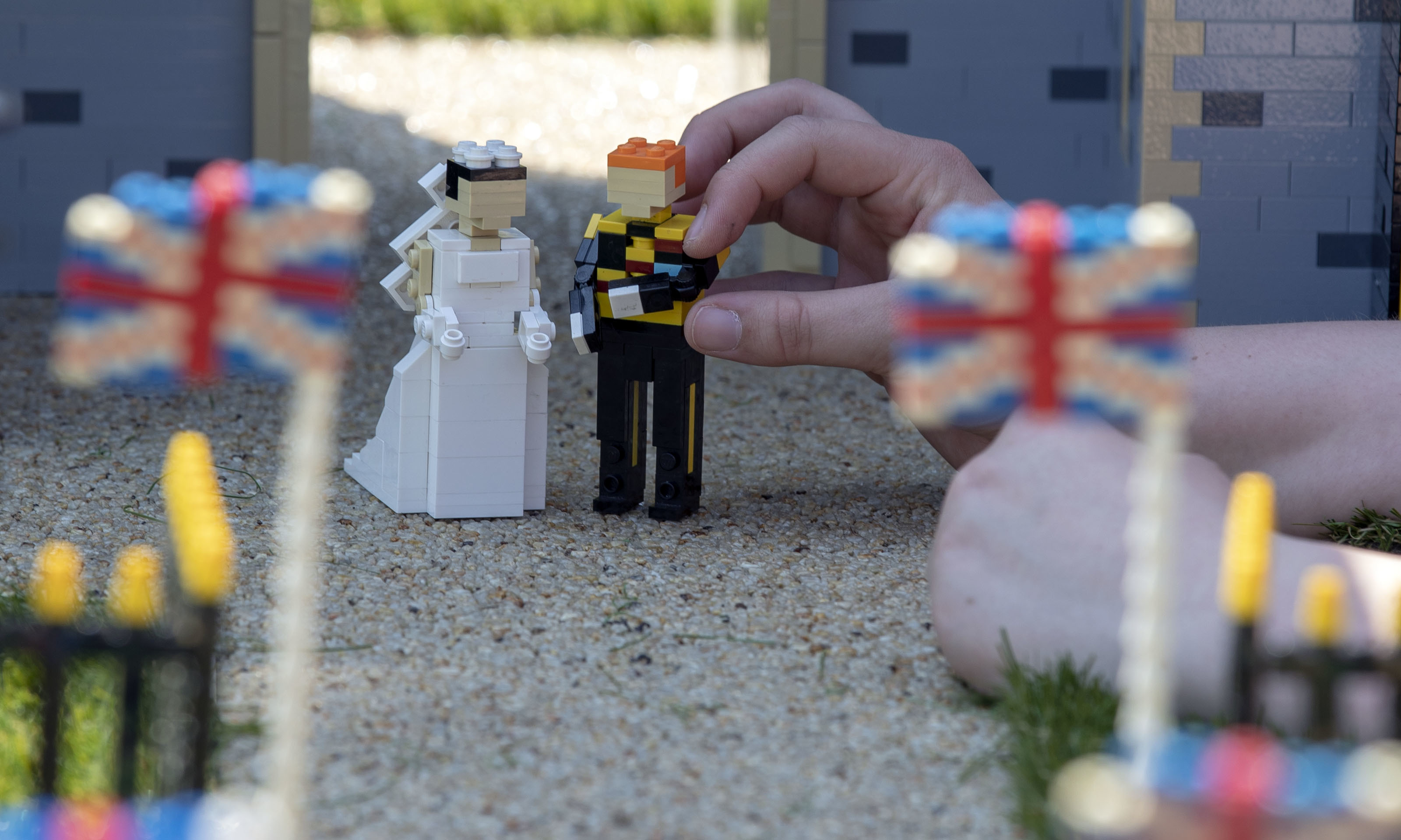 Legoland Windsor honours upcoming royal wedding with miniature castle Video