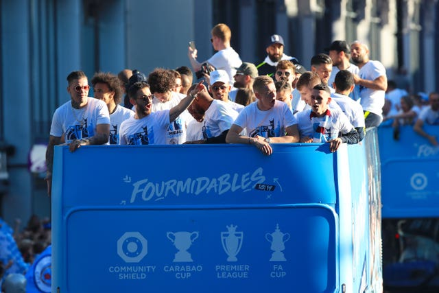 Manchester City won all three major domestic trophies last season
