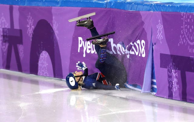 Elise Christie crashed out of the 500m final on Tuesday and races again over 1,500m on Saturday