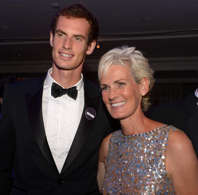Andy Murray and his mum (Adam Davy/PA)
