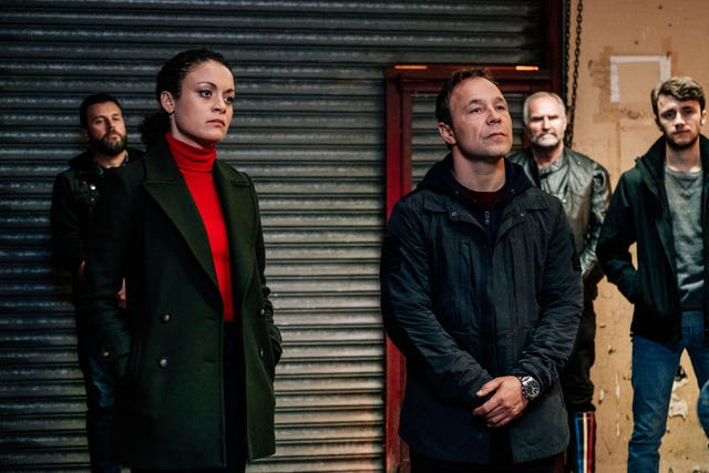 Sandall as Lisa McQueen alongside Stephen Graham (Aiden Monaghan/World Productions/BBC)
