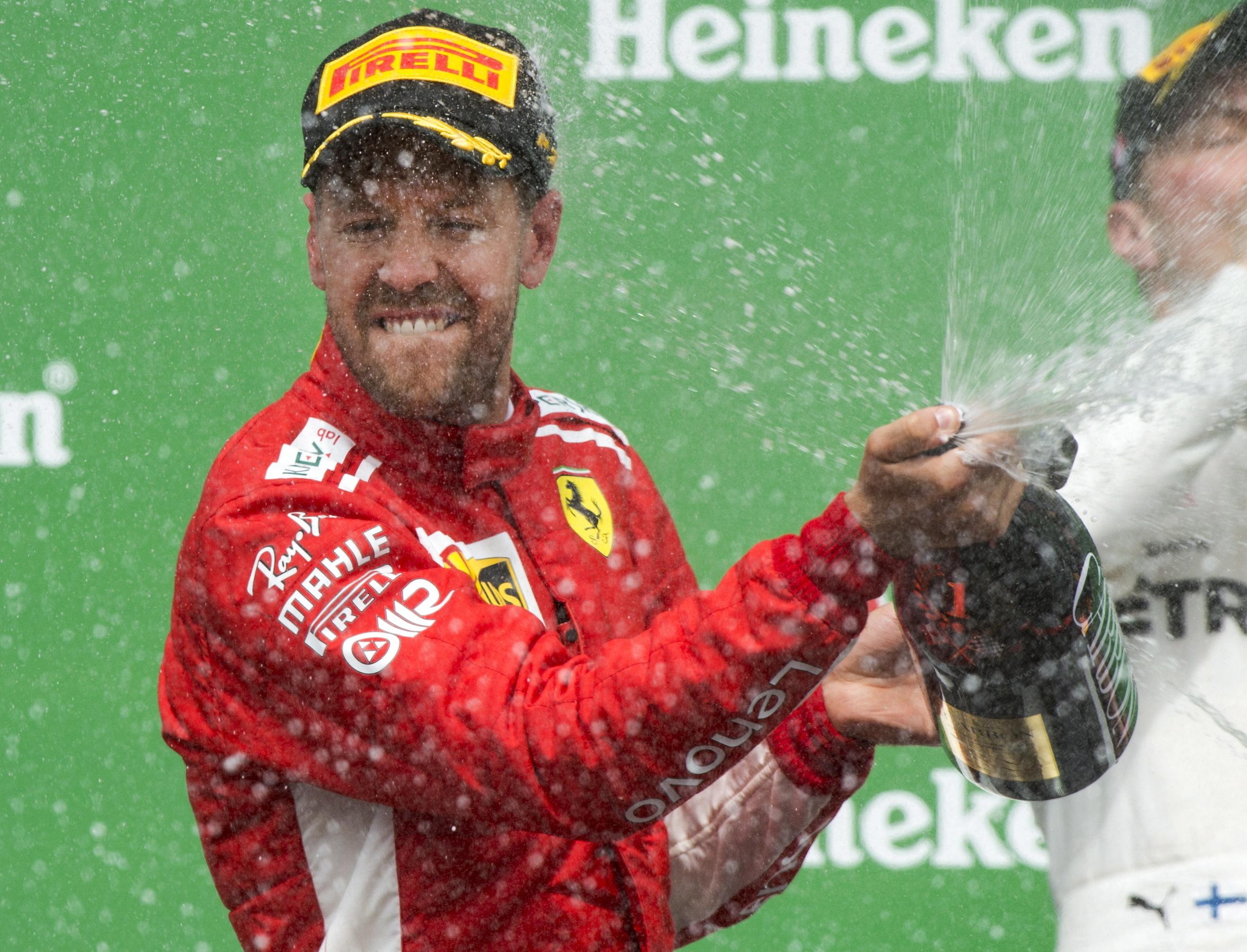 Sebastian Vettel triumphed in Canada