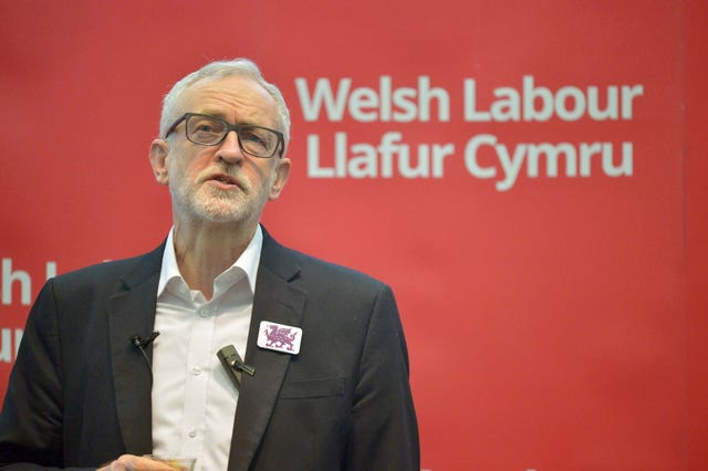 Labour Leader Jeremy Corbyn addresses a members' rally at Bangor University