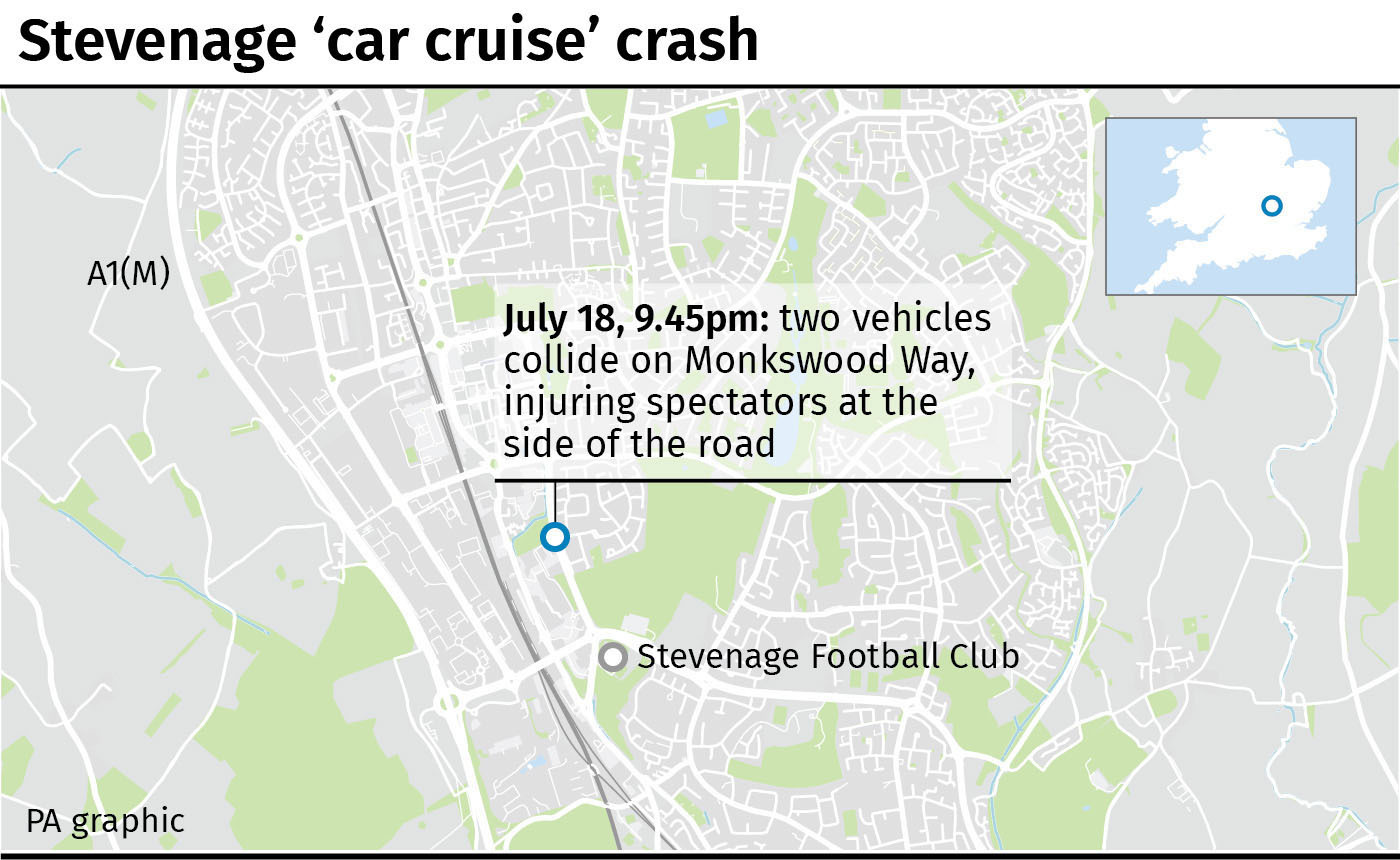 Vehicles plough into crowd at United Kingdom  auto  club meet injuring 17