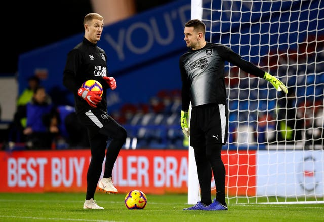 Heaton (right) and Joe Hart are team-mates at Burnley