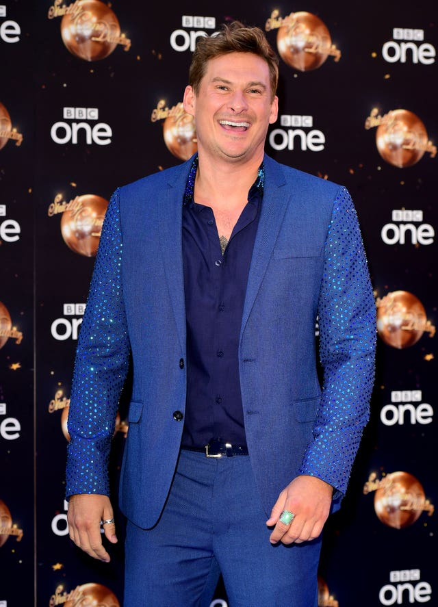 Lee Ryan at the Strictly launch