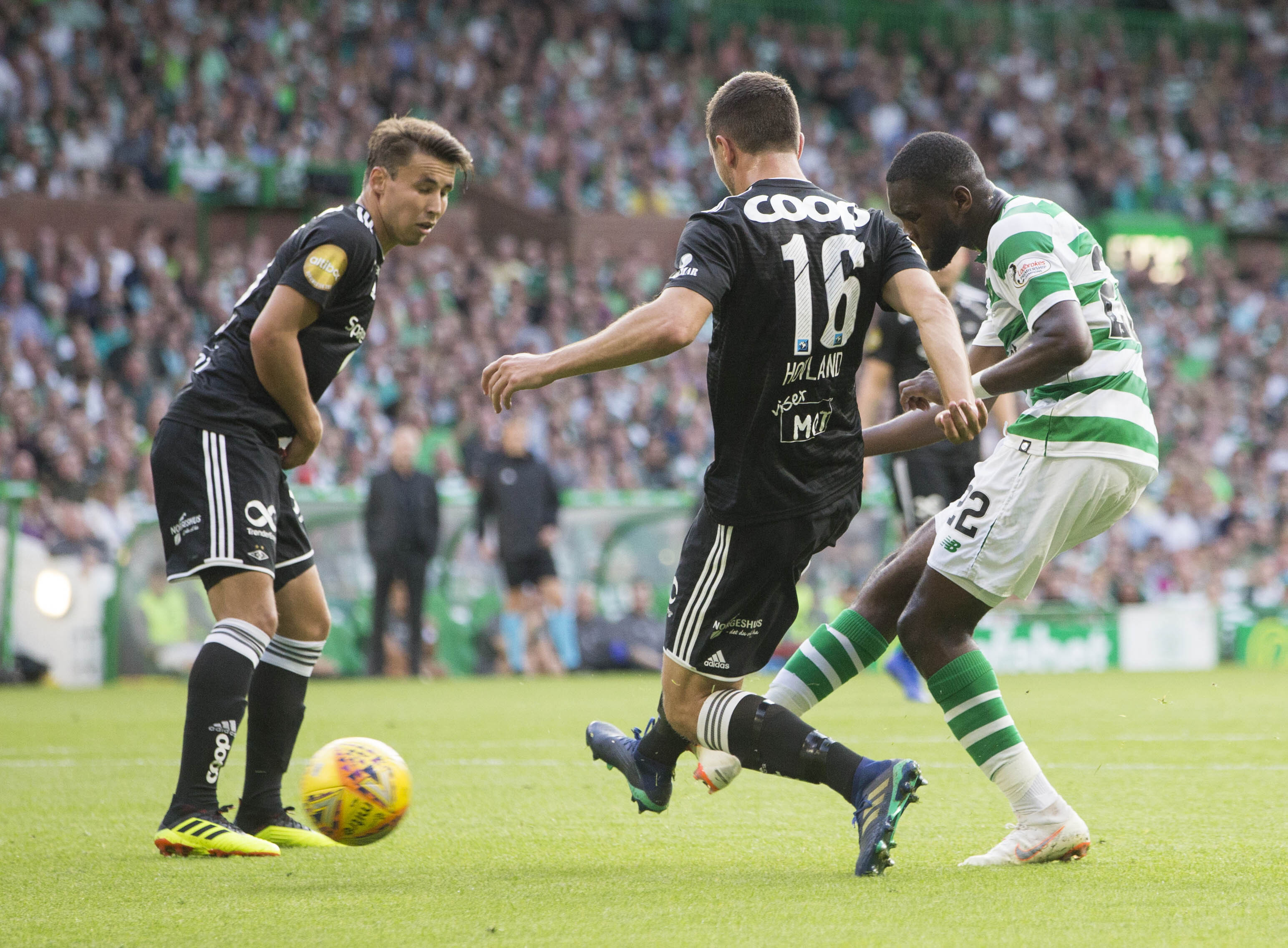 Odsonne Edouard right scores against Rosenborg