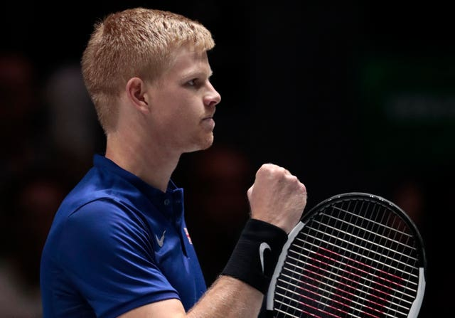 Kyle Edmund celebrates his win