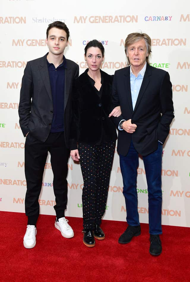 Sir Paul McCartney at Special screening of My Generation – London