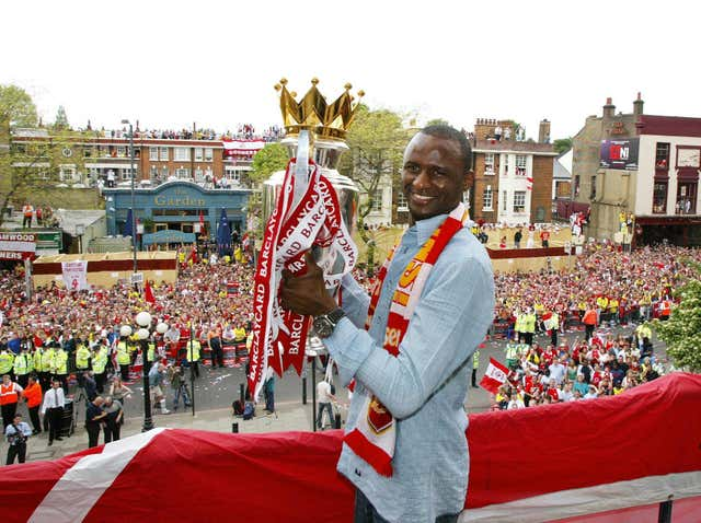 Vieira lifted three Premier League titles during his time at Arsenal