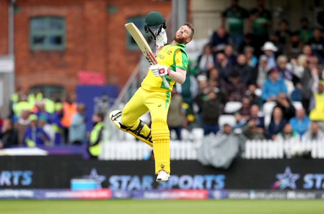David Warner celebrated his century in style