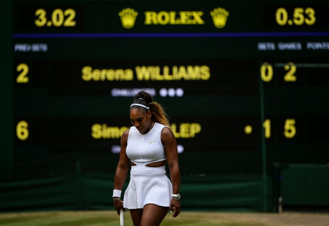 Serena Williams was well beaten by Simona Halep in the Wimbledon final