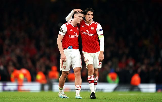 Full-backs Kieran Tierney and Hector Bellerin both started for the Gunners