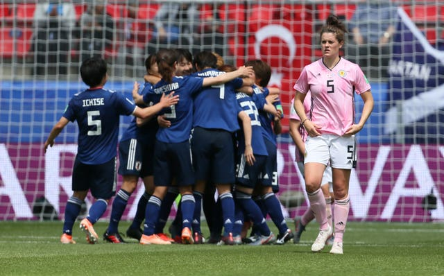 Scotland suffered defeat to Japan