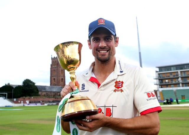 Essex's Alastair Cook celebrates