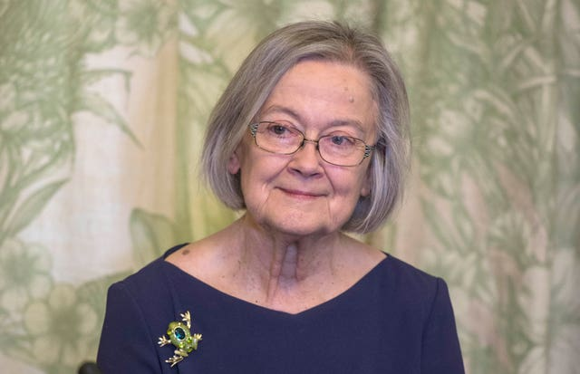 Lady Hale exhibited a frog brooch at an event in 2017