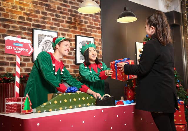 Greggs' Christmas gift wrapping service