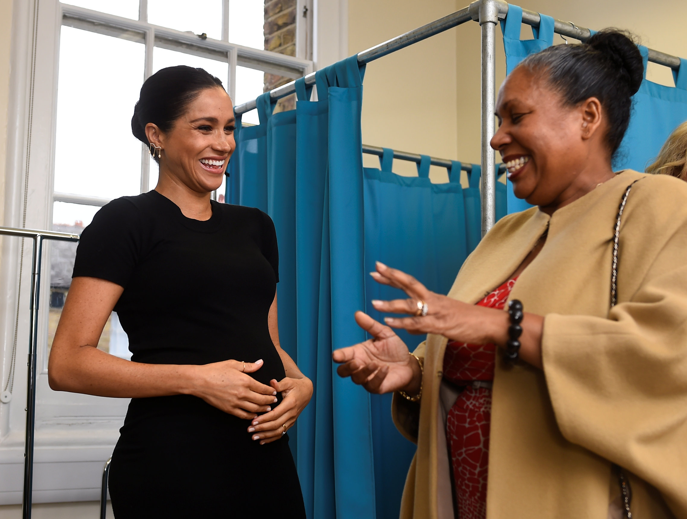 The Duchess of Sussex chats with Patsy Wardally