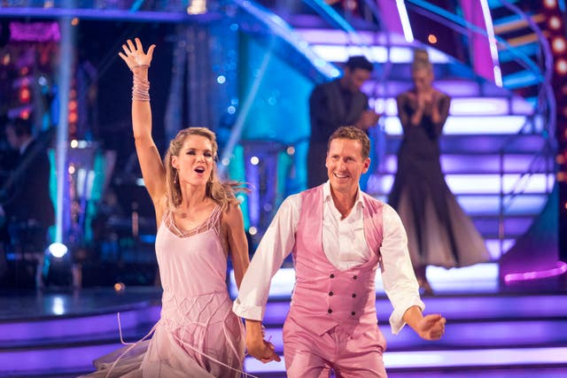 Charlotte Hawkins and Brendan Cole on Strictly (Guy Levy/BBC)