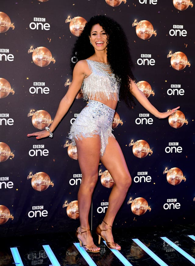 Vick Hope at the Strictly Come Dancing Launch