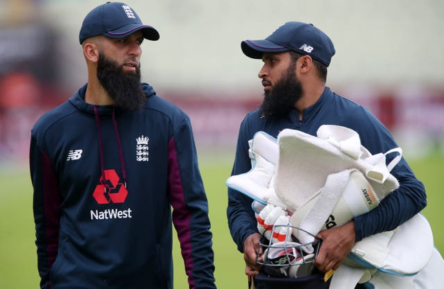 Moeen Ali, left, and Adil Rashid did not feature in the ODIs in Cape Town and Durban (Nick Potts/PA)